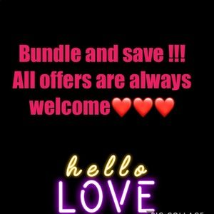 Bundle and save !! All offers always welcome .